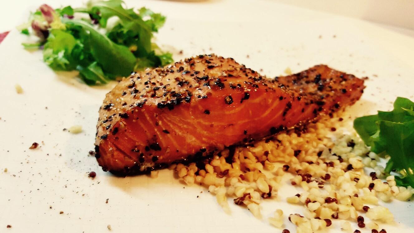 Salmone al pepe1