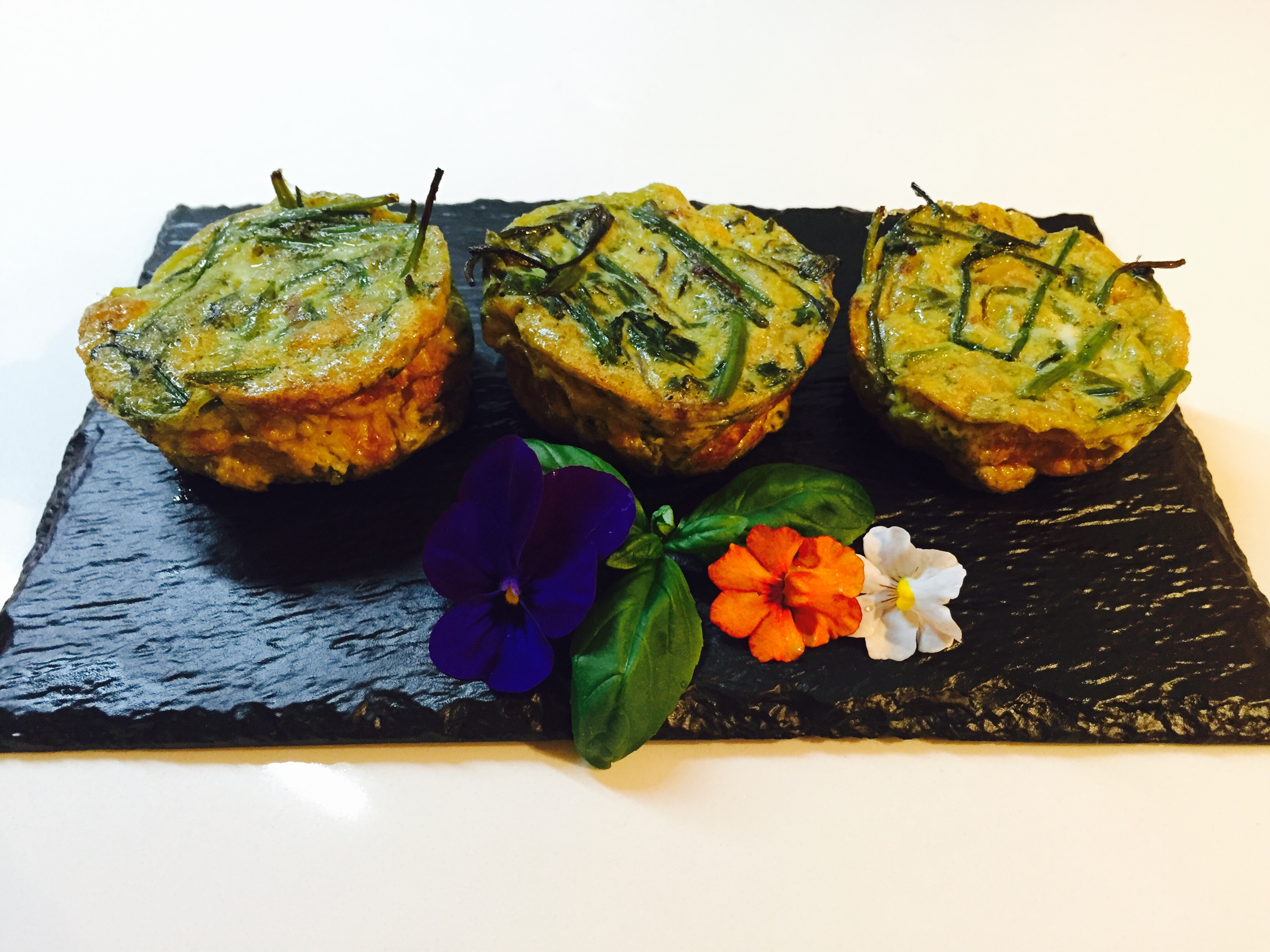 Mini frittate agli asparagi selvatici 1
