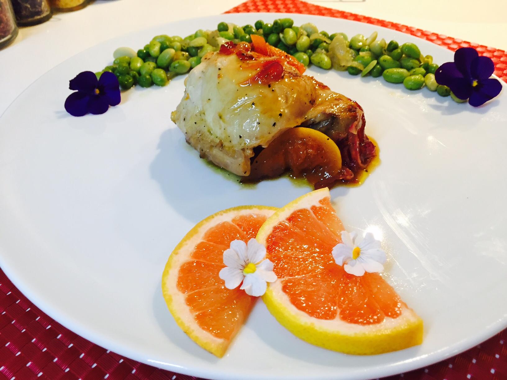 Pollo al pompelmo 1