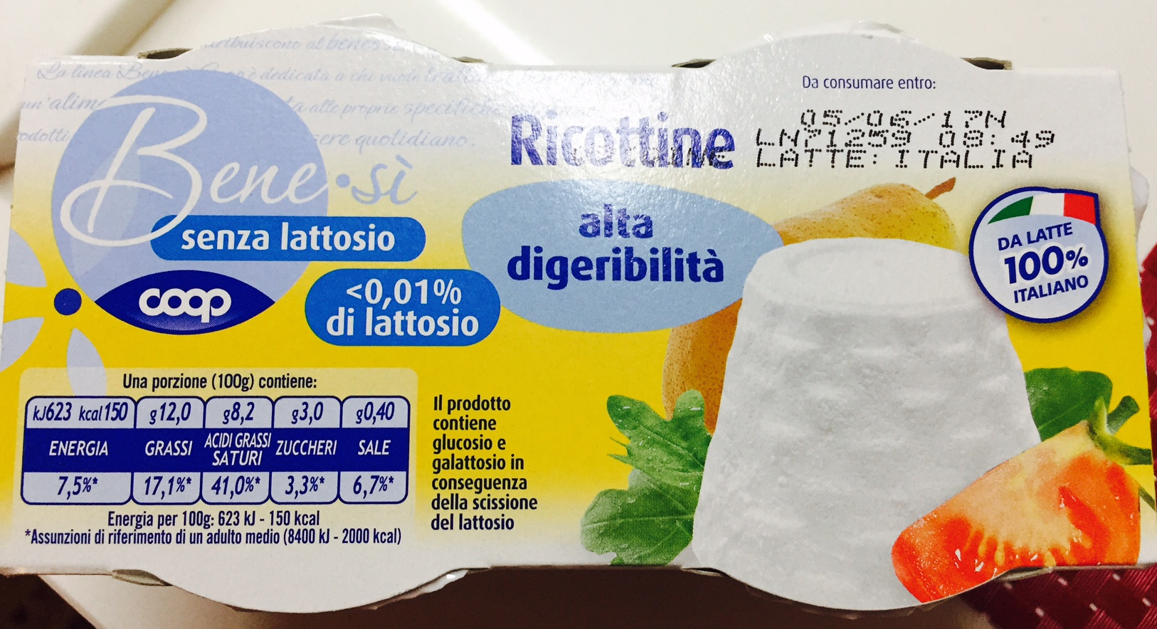 Ricottine Benesì Coop - lattosio <0,01 Image