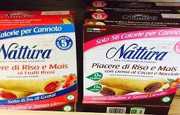Snack Nattura piacere di riso e mais - lattosio 0% Image