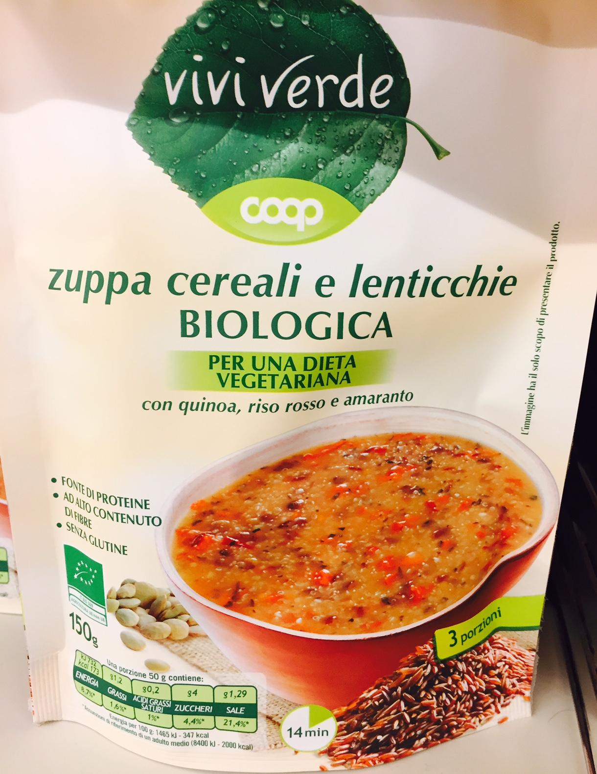 Zuppa cereali e lenticchie Coop - lattosio 0% Image