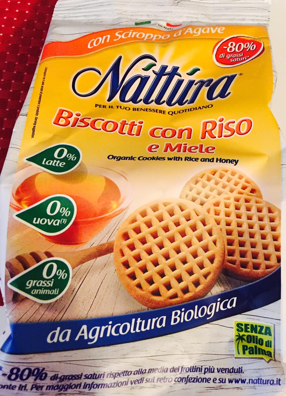 Nattura biscotti con riso e miele - lattosio 0% Image
