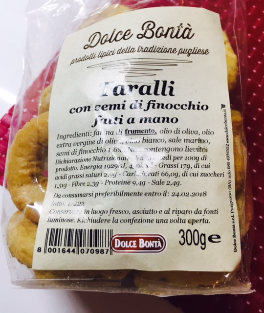 Taralli Dolce Bontà - lattosio 0% Image