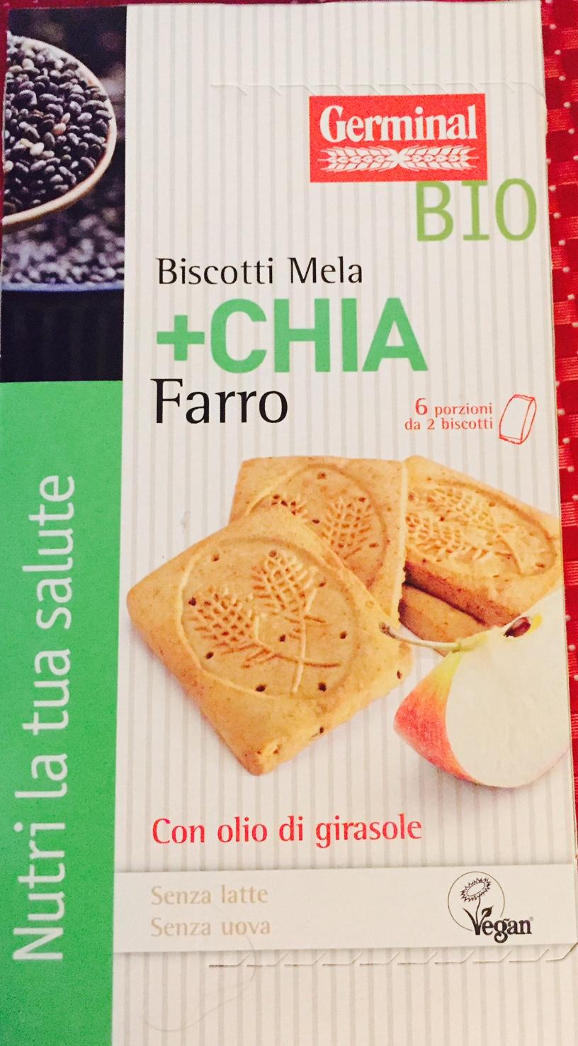 Biscotti al farro mela e chia Germinal - lattosio 0% Image