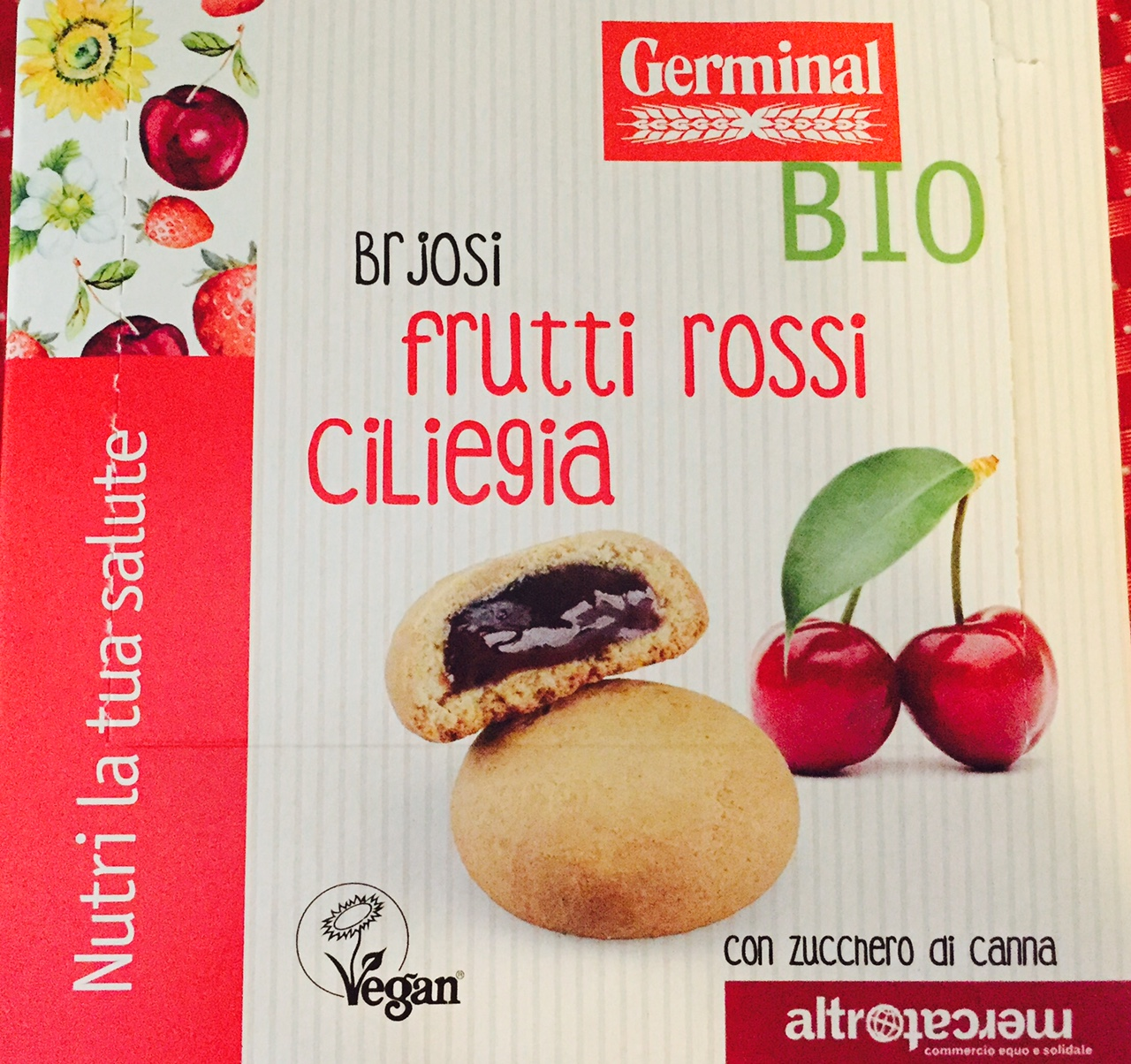 Brjosi ai frutti rossi e ciliegia Germinal - lattosio 0% Image