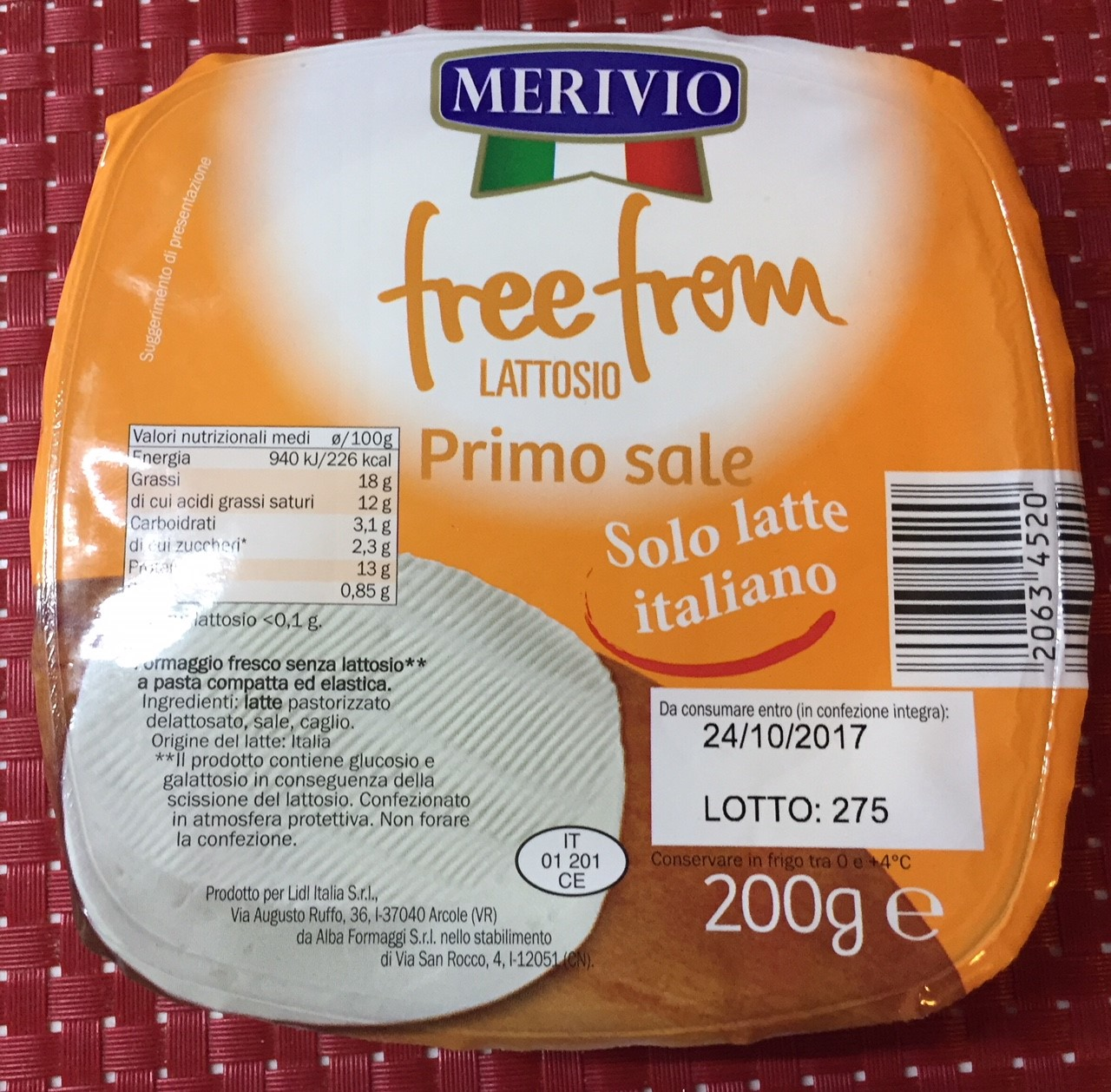 Primo sale free from Merivio - lattosio <0,01 Image