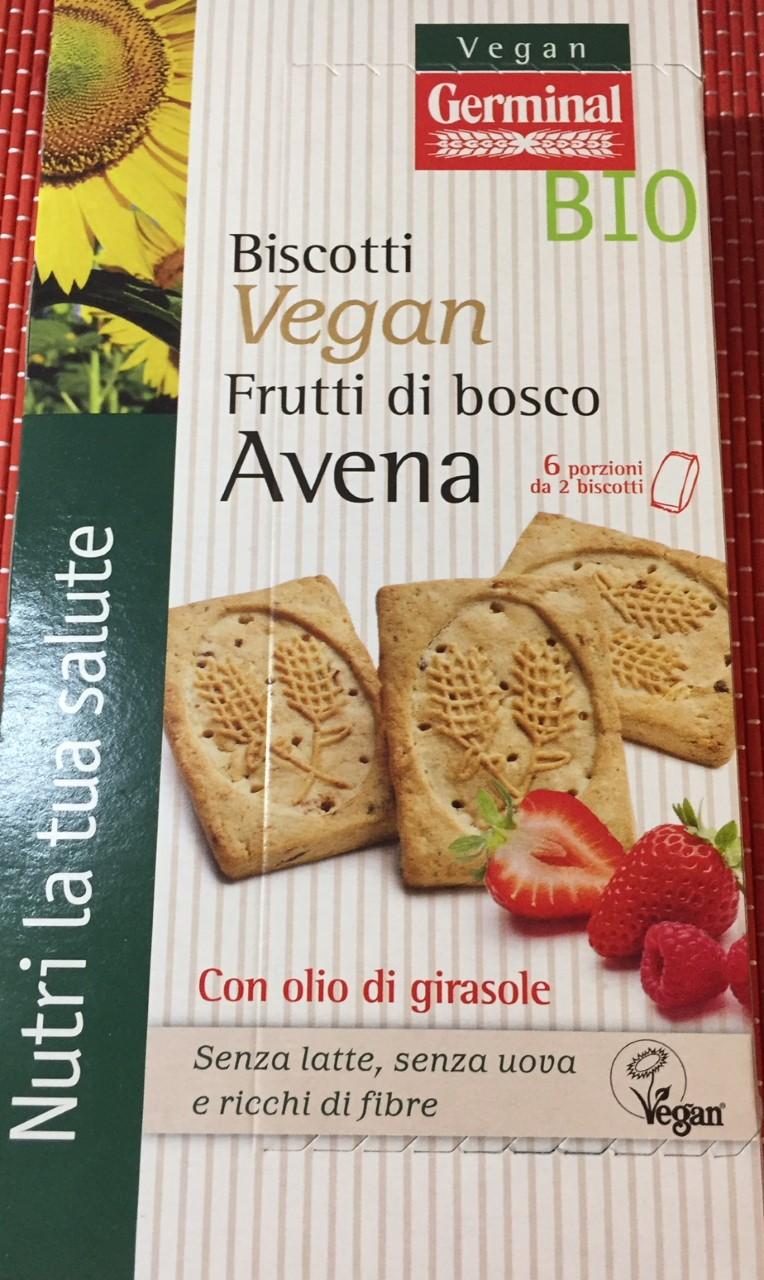 Biscotti avena frutti di bosco Germinal - lattosio 0% Image