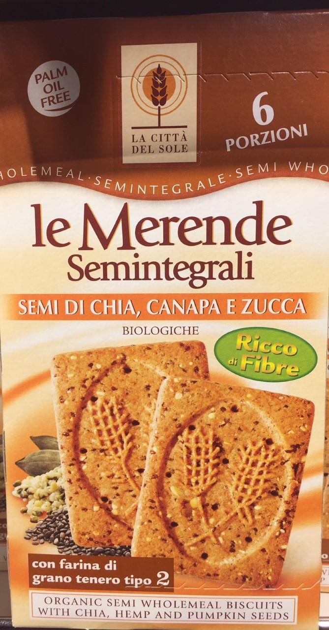 Biscotti semi di chia La Città del Sole - lattosio 0% Image