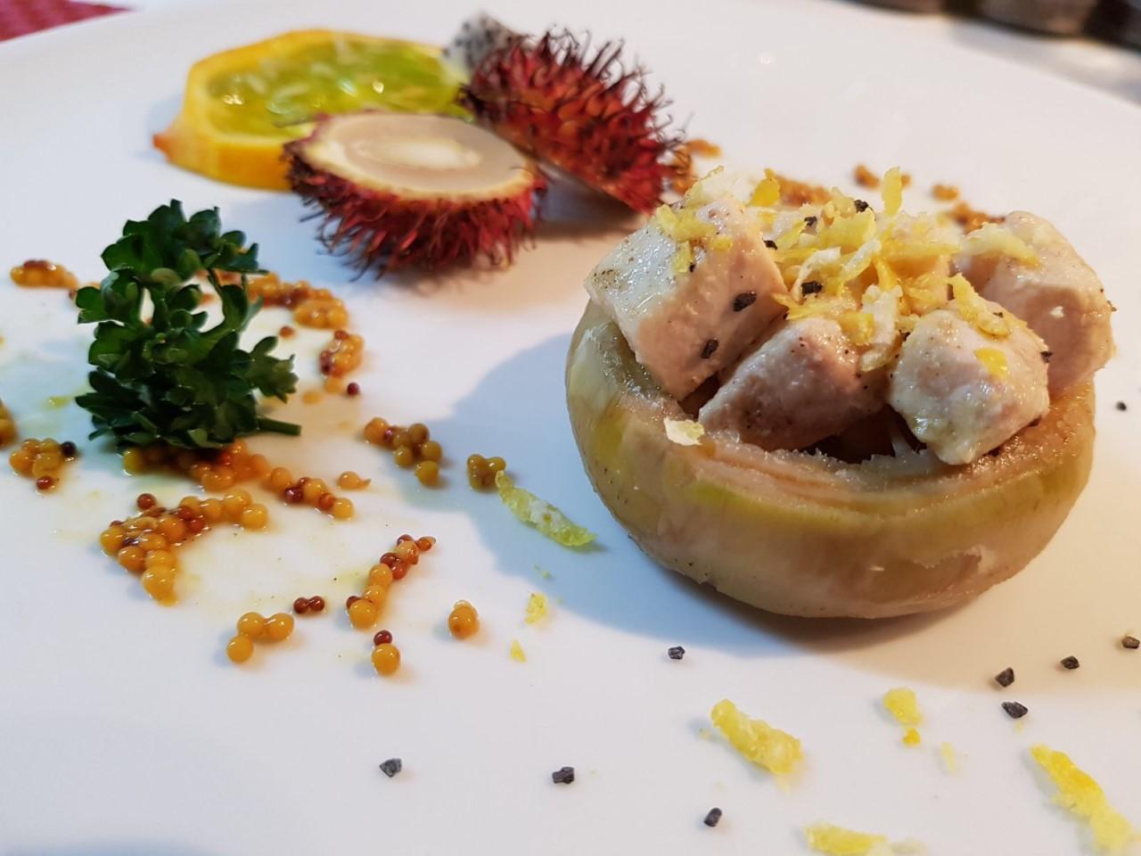 carciofi con spada limone e senape 1