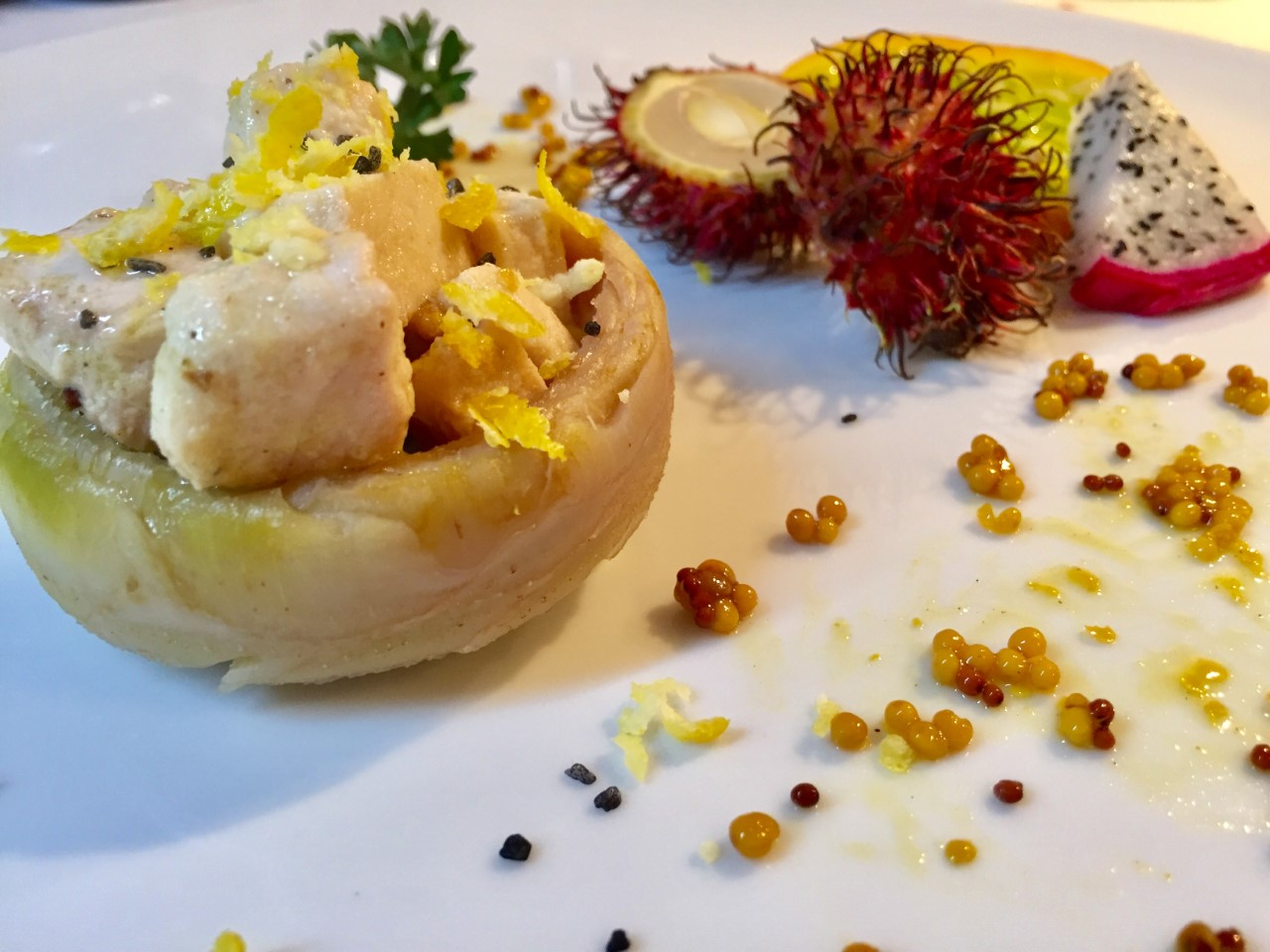 carciofi con spada limone e senape