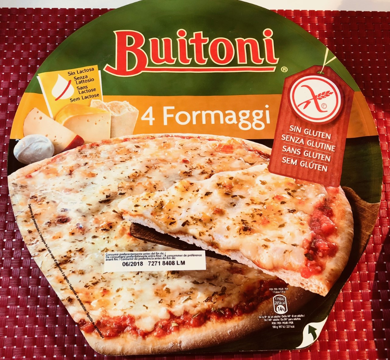 Pizza Buitoni ai 4 formaggi - lattosio <0,01 Image