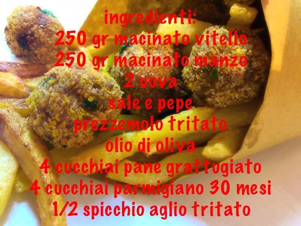 Polpette e patatine fritte 2
