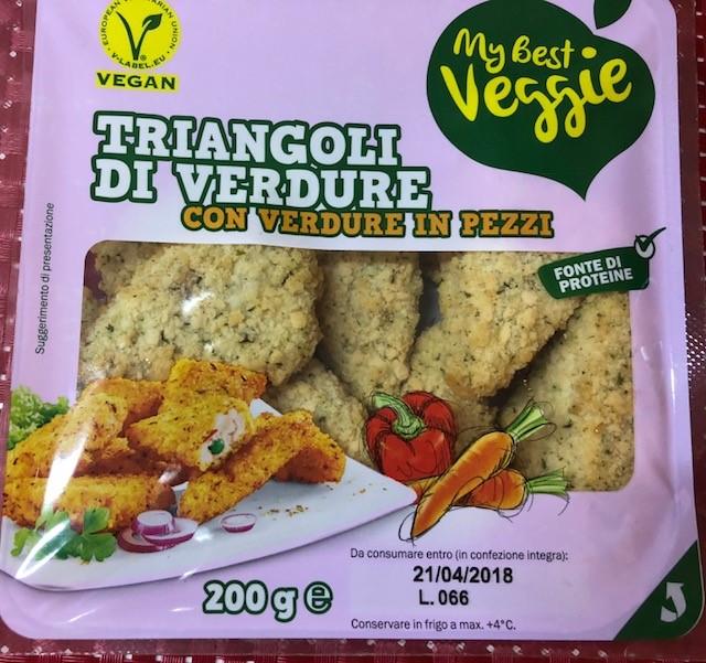 Triangoli di verdure My Best Veggie - lattosio 0% Image