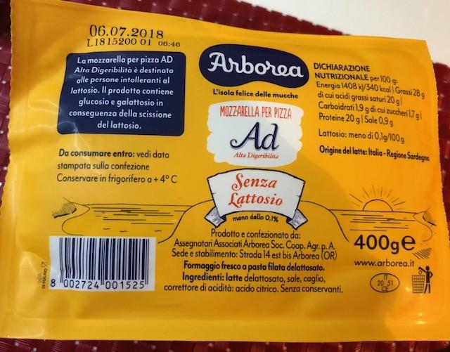 Mozzarella per pizza Arborea - lattosio <0,1 Image