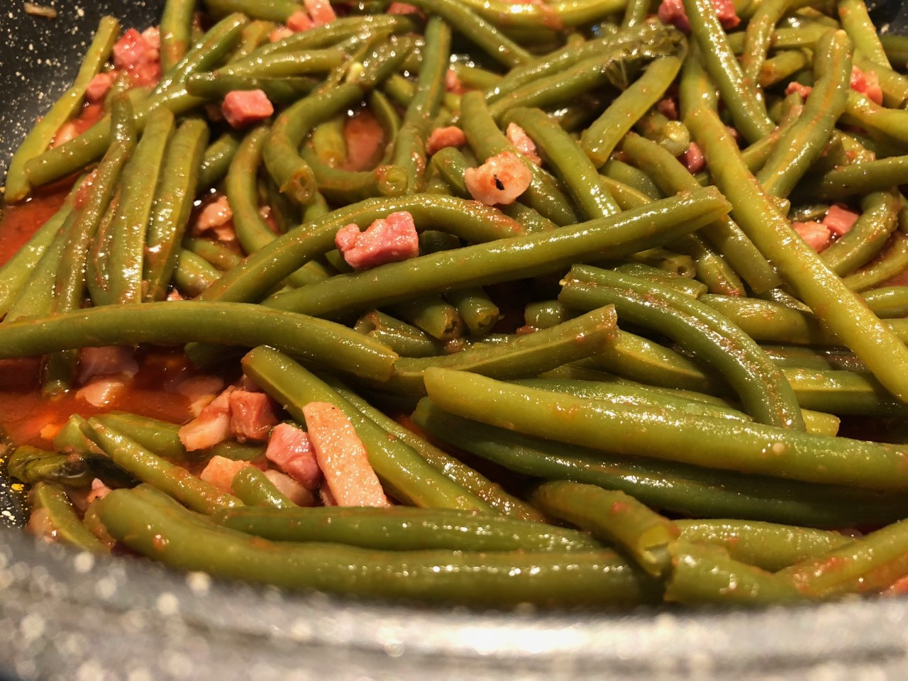 Fagiolini e pancetta