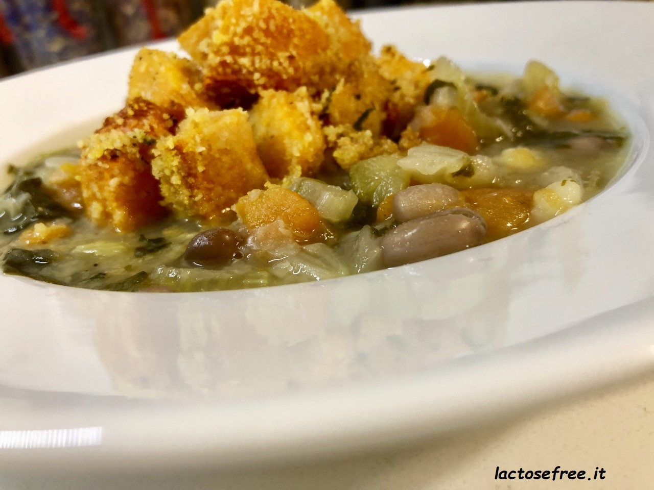Minestrone con zucca gratinata