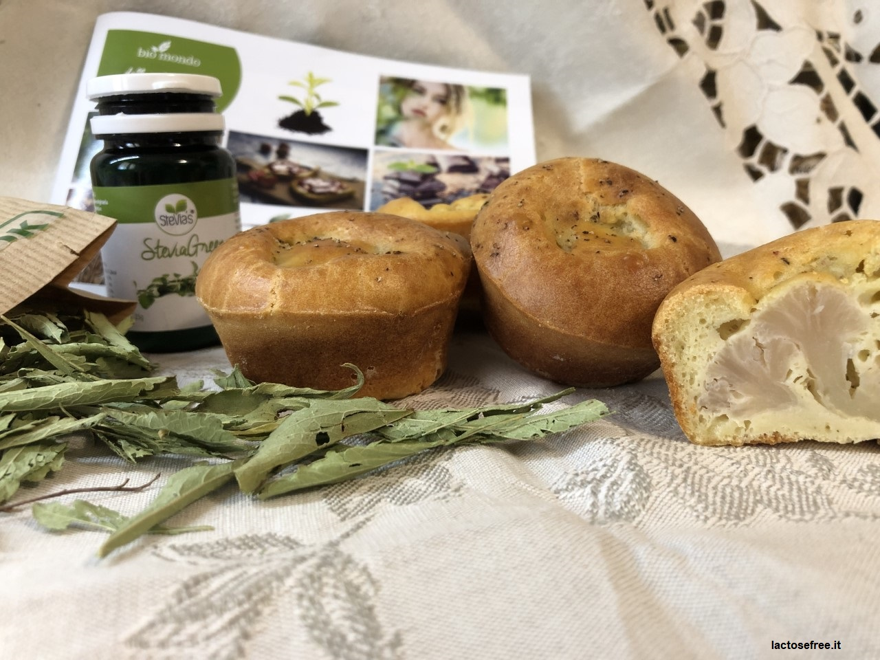Muffin salati al cavolfiore e stevia 32