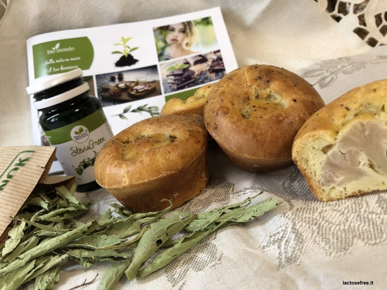 Muffin salati al cavolfiore e stevia 33