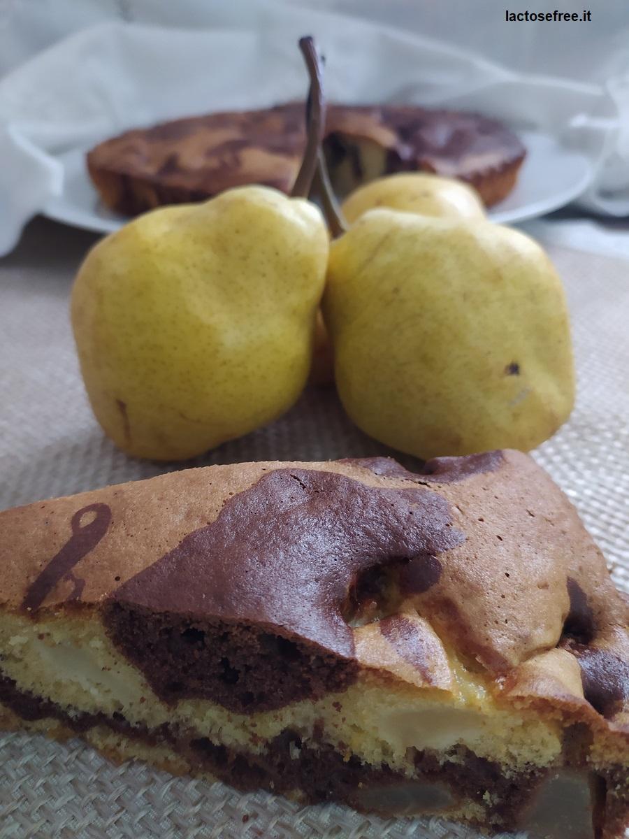 ricetta torta senza lattosio al cioccolato e pere