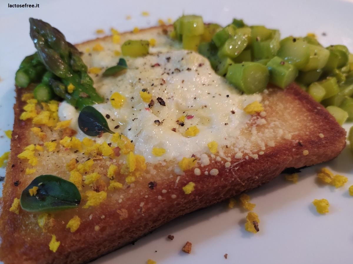 ricetta uovo cotto nel pane senza lattosio