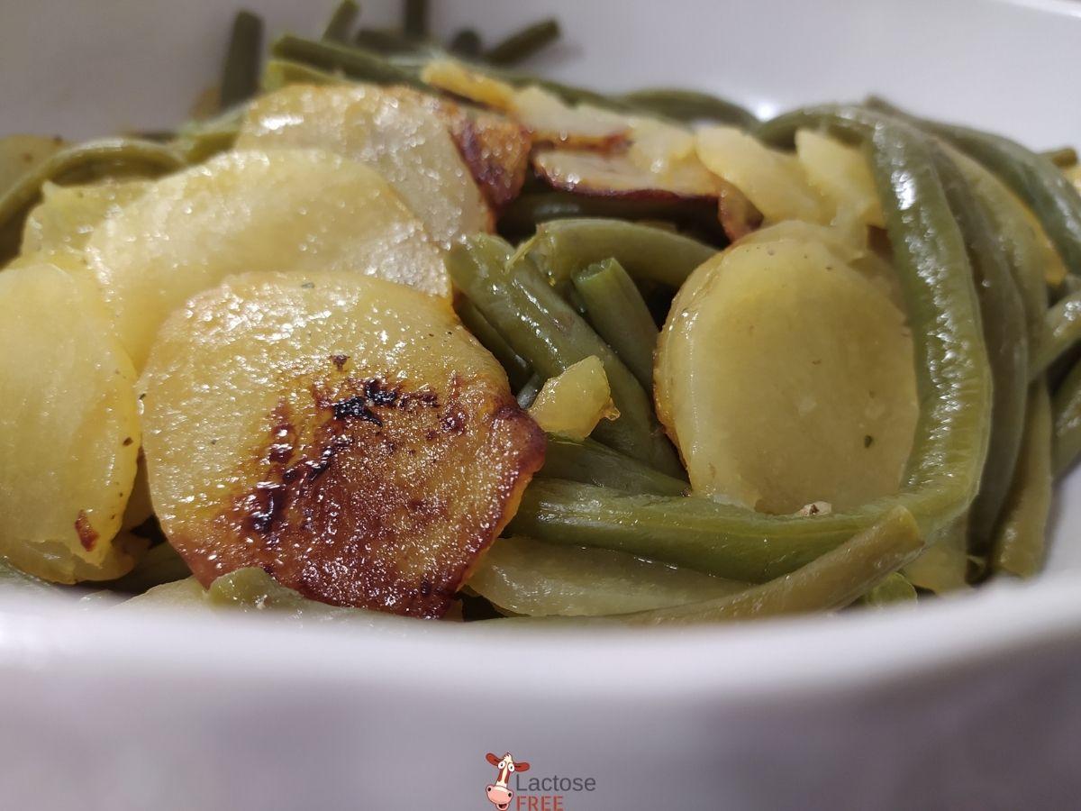 Patate e fagiolini in padella